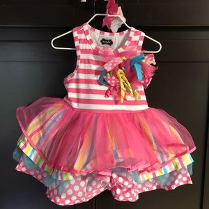"NWT Mud Pie ""1"" Tutu Party Dress"
